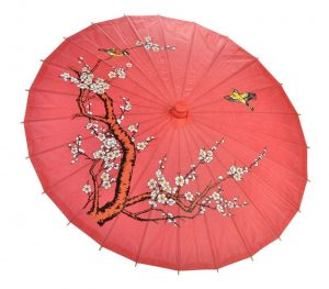 Japanese Cherry Blossom Red Paper Parasoll