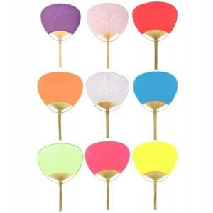 Colored Paper Paddle Fan Uchiwa