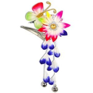 Kanzashi Variety Flower Butterfly Clip