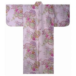 Yukata 54 Circle Flowers Pink