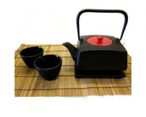 Tetsubin Teapot Set Square Black
