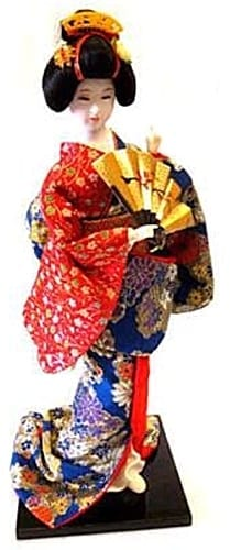 Japanese Geisha Doll One Fan