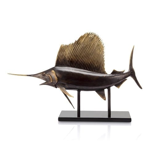 Sailfish Brass Statue