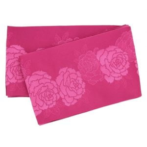 Fuchsia Chrysanthemum Patterned Full Obi