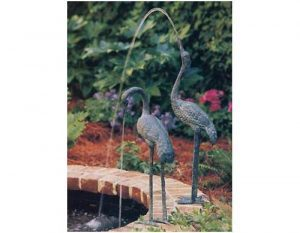 Crane Fountains Medium Pair