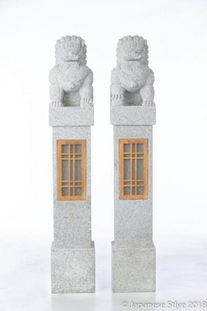 Foo Lion Dog Granite Lantern