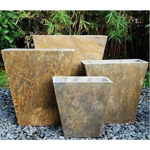 Narrow Low Tapered Slate Planter