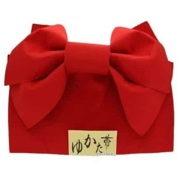 Obi Belt Butterfly Red
