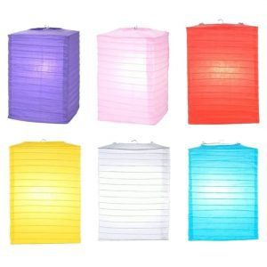 Rectangle Paper Lantern Color Options