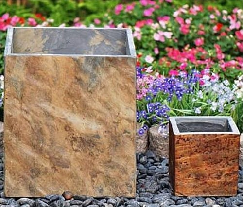 Tall Square Slate Planter with size options