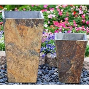 Tall Tapered Slate Planter