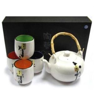 Tea Set Asian Ink Art