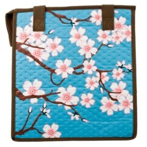 Insulated Cherry Blossom Bag